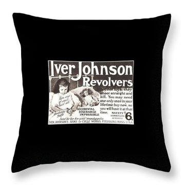 Iver Johnson Revolvers Throw Pillow