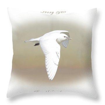 Ivory Gull Throw Pillow