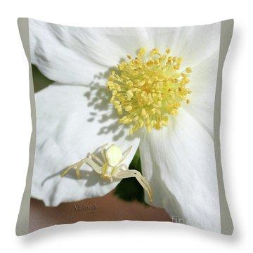 Ivory Huntress Throw Pillow