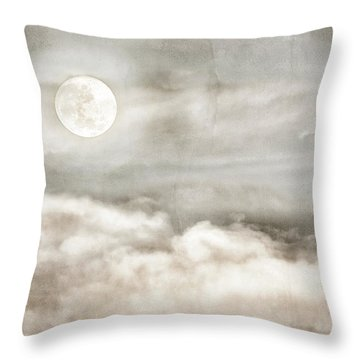 Ivory Moon Throw Pillow