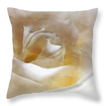 Throw Pillow featuring the photograph Ivory Rose - An Affair To Remember   by Janine Riley