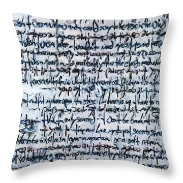Ivory Tower Blues Throw Pillow