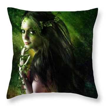 Ivy Throw Pillow by Mary Hood
