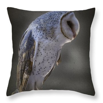 Ivy The Barn Owl Throw Pillow