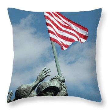 Iwo Jima Memorial Throw Pillow