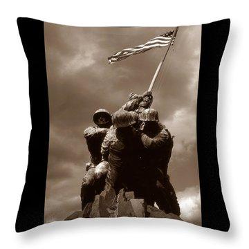 Iwo Jima War Memorial Washington Throw Pillow