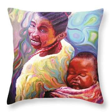 Iyaniwura  Throw Pillow