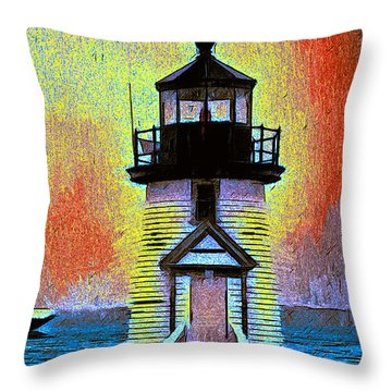Throw Pillow featuring the painting Iyanough At Brant Point by Jack Torcello