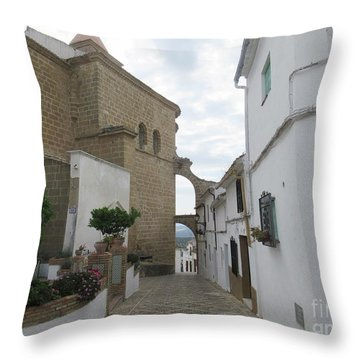 In The Centre Of Iznajar Throw Pillow