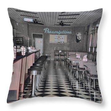 Izzo's Drugstore Throw Pillow