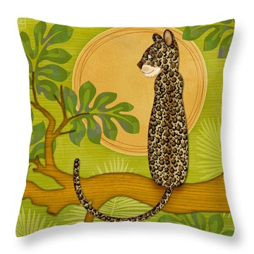 J Is For Jaguar Throw Pillow