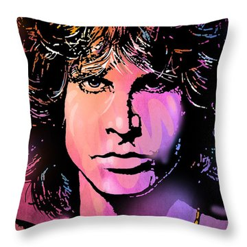 J. Morrison Throw Pillow by Paul Sachtleben