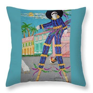 J Ouvert Morning  Throw Pillow
