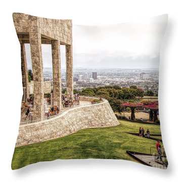 J. Paul Getty Museum Los Angeles Landscape Architecture  Throw Pillow
