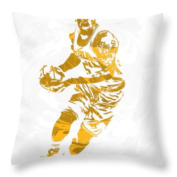 J R Smith Cleveland Cavaliers Pixel Art Throw Pillow