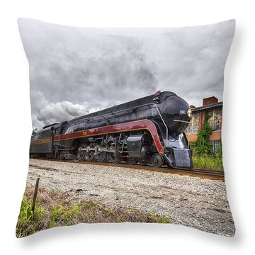 J611 Steaming Through Bedford Throw Pillow by Alan Raasch