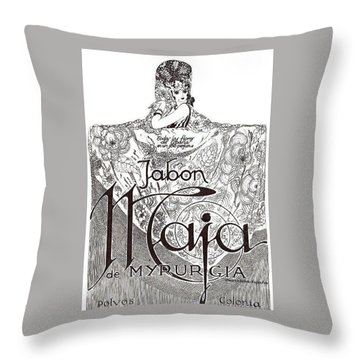 Throw Pillow featuring the digital art Jabon by ReInVintaged