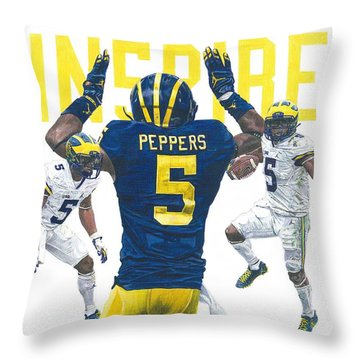Jabrill Peppers Throw Pillow