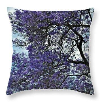 Jacaranda Clouds Throw Pillow by Gwyn Newcombe