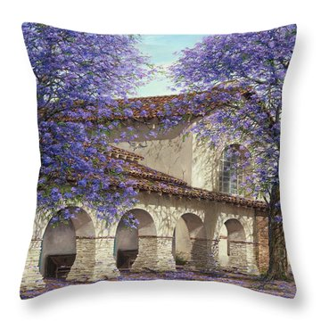 Jacaranda Tree Throw Pillows