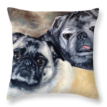 Jack And Bella Throw Pillow