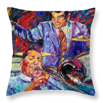 Jack And Gene Throw Pillow by Debra Hurd