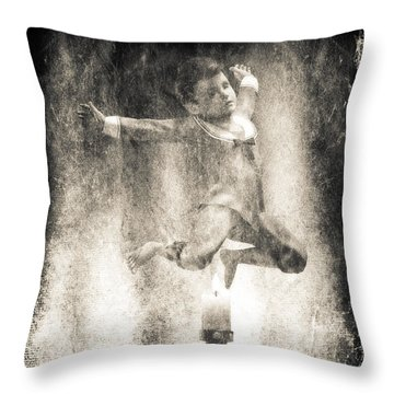 Jack Be Quick Throw Pillow by Bob Orsillo