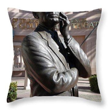 Jack Benny Throw Pillow by Jeff Lowe
