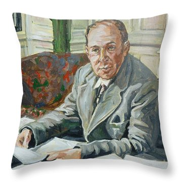 Jack C S Lewis Throw Pillow