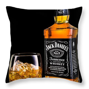 Jack Daniel's Throw Pillow by Mihai Andritoiu
