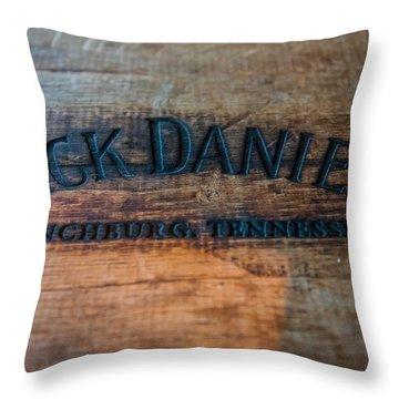 Jack Daniels Oak Barrel Throw Pillow