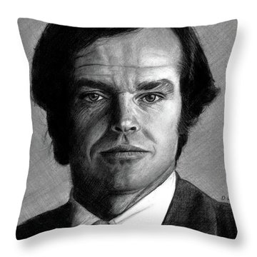 Jack Nicholson Portrait Throw Pillow