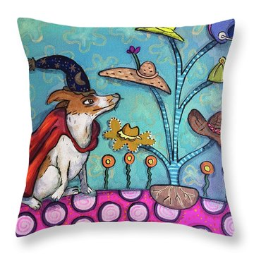 Throw Pillow featuring the painting Jack Of All Trades by Marti McGinnis