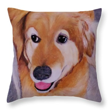 Jack Ready To Go Throw Pillow by Christy Saunders Church