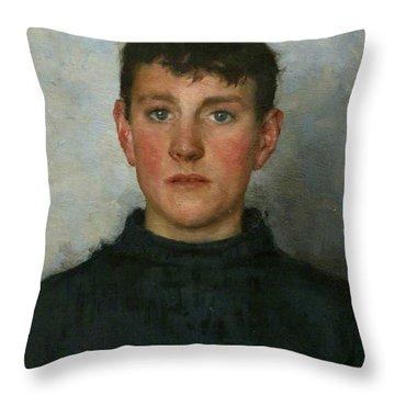 Jack Rolling Throw Pillow by Henry Scott Tuke