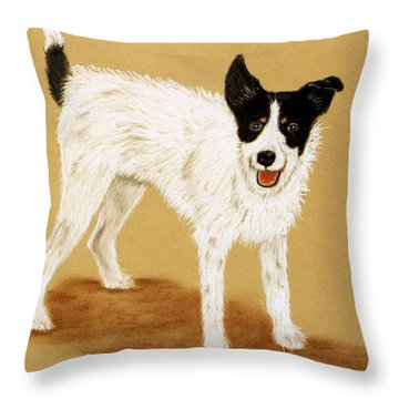 Jack Russell 2 Throw Pillow by Jan Amiss
