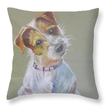 Jack Russell Watching You Throw Pillow