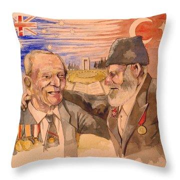 Jack Ryan And Hyseyin Kacmaz Throw Pillow by Ray Agius