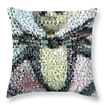 Jack Skellington Mosaic Throw Pillow