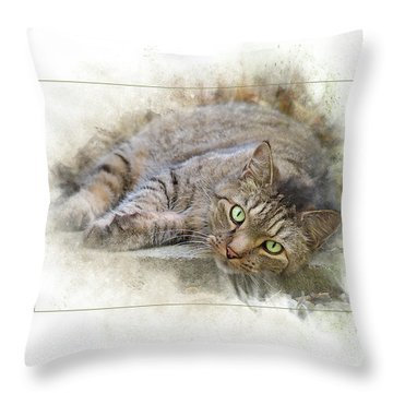 Throw Pillow featuring the digital art Jack by Sue Collura