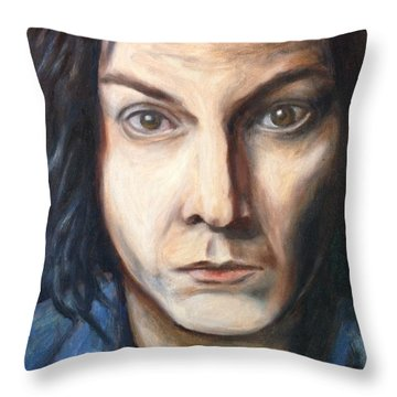 A Tribute To Jack White Throw Pillow by Jac Mason