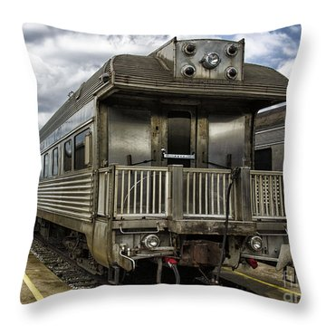 Jackie Gleasons Private Rail Car Throw Pillow