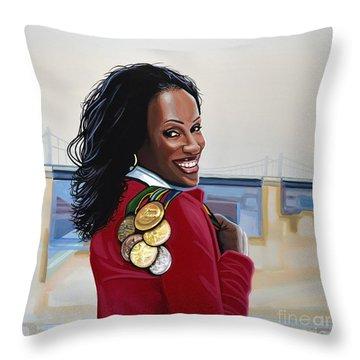 Jackie Joyner Kersee Throw Pillow