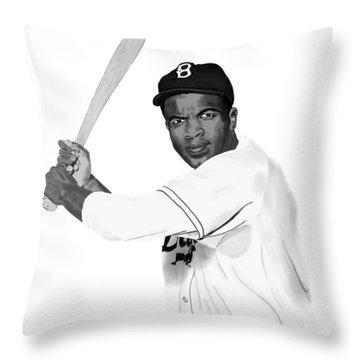 Jackie Robinson Throw Pillow