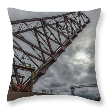 Jackknife Bridge To The Clouds Throw Pillow