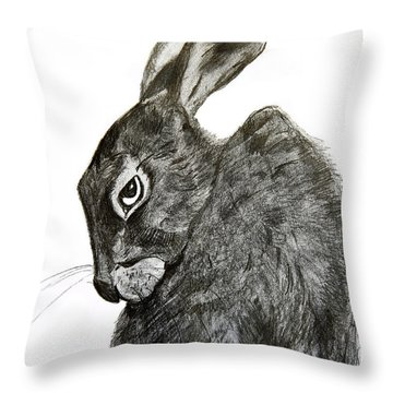 Jackrabbit Jock Throw Pillow by Linde Townsend
