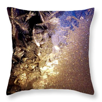 Jack's Visit Throw Pillow by Danielle R T Haney