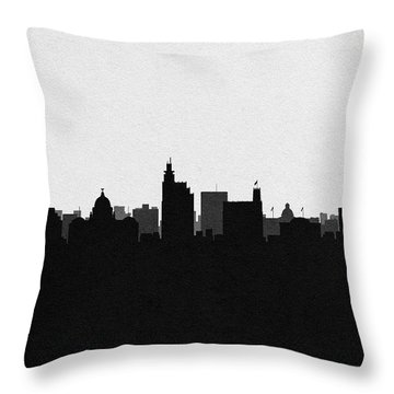Jackson Cityscape Art Throw Pillow