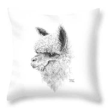 Throw Pillow featuring the drawing Jackson by K Llamas