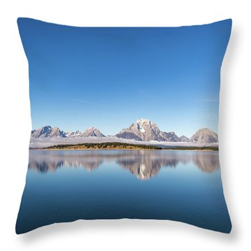 Throw Pillow featuring the photograph Jackson Lake by Mary Hone